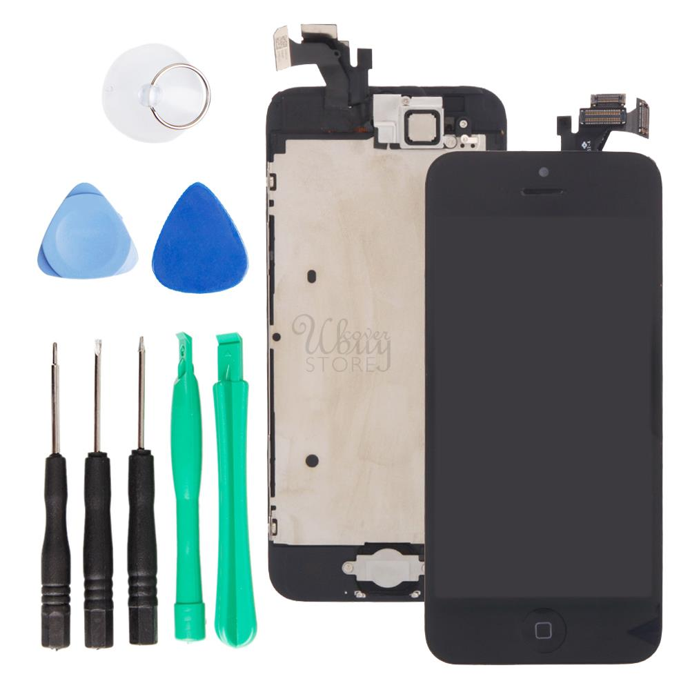 lcd display touch digitizer screen w button for iphone 5 black model a1429 a1428 ebay. Black Bedroom Furniture Sets. Home Design Ideas