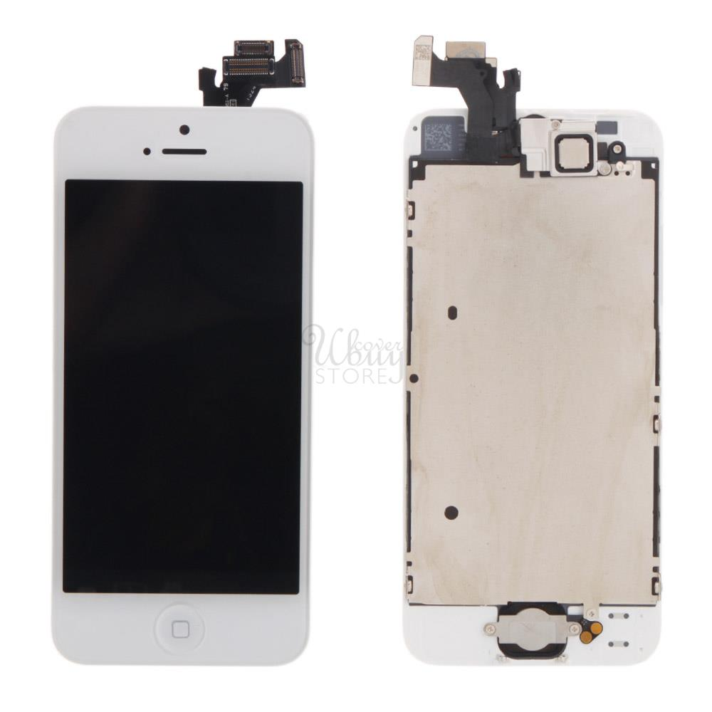 a1429 frame lcd touch screen assembly button camera for iphone 5 white ebay. Black Bedroom Furniture Sets. Home Design Ideas